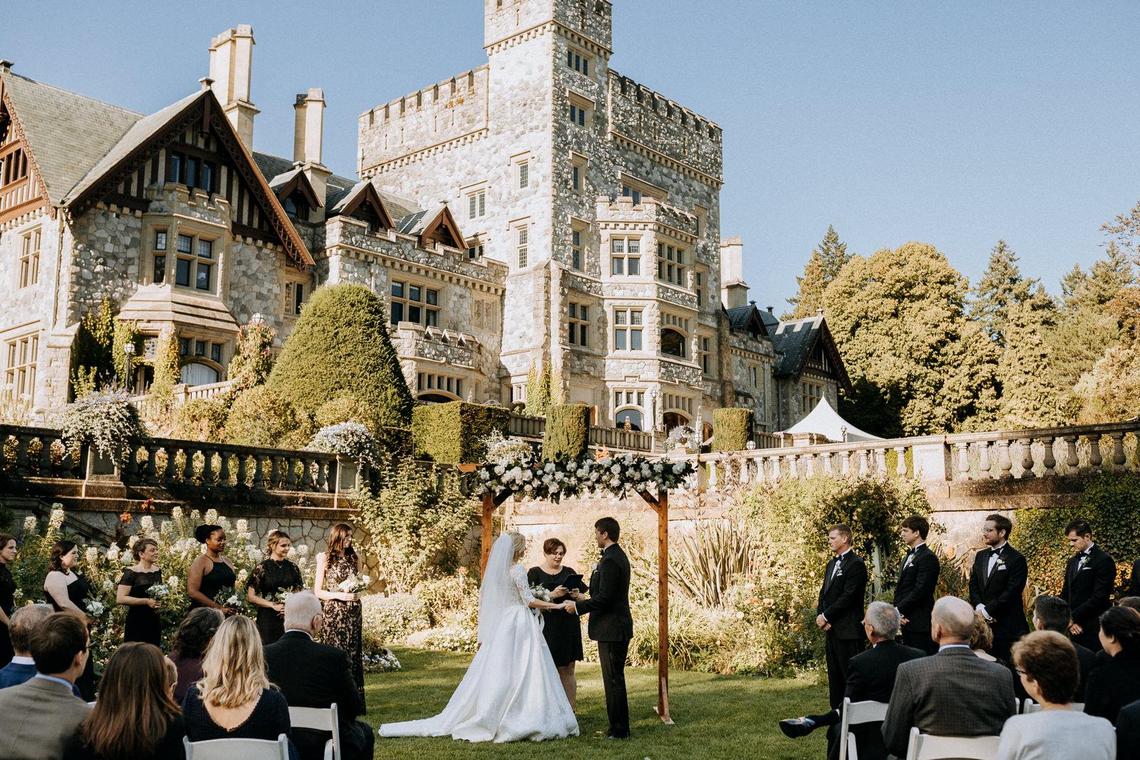 Beautiful Hatley Castle Wedding photographer