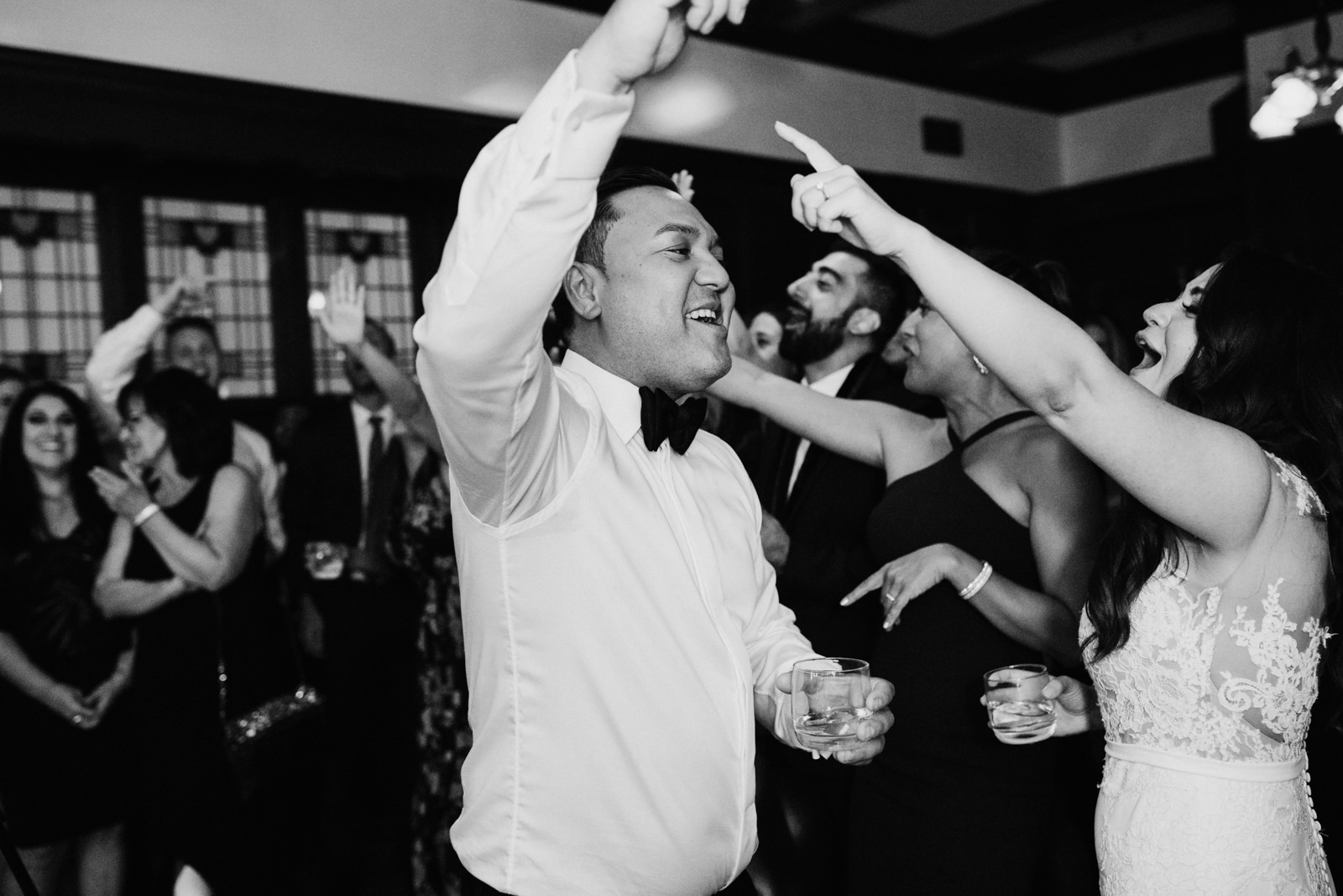 bride and groom dance at Cecil Green Vancouver Wedding Photographer