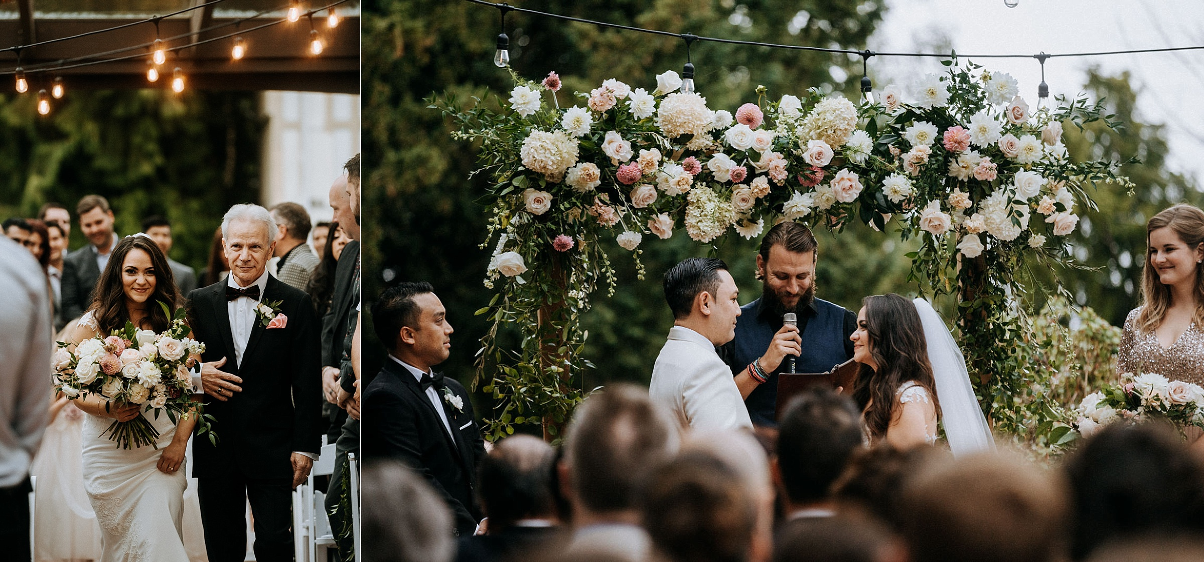 ceremony at Cecil Green Park House Vancouver Wedding Photographer