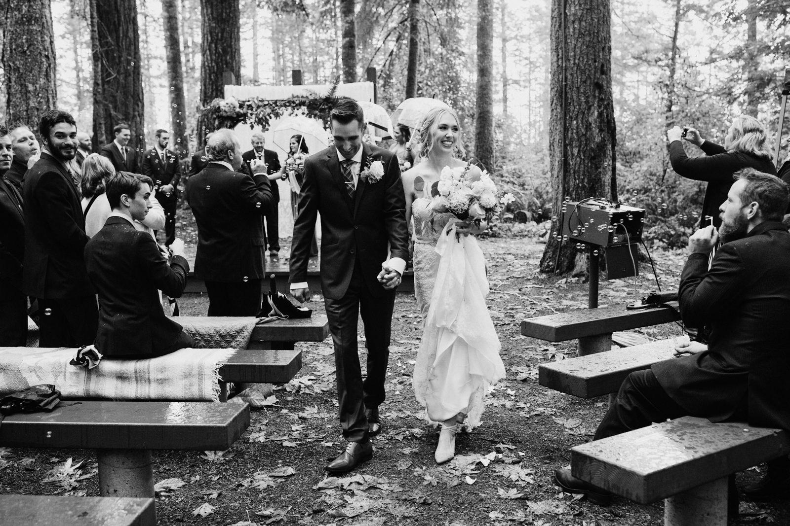 recessional Miracle Beach Comox Wedding Photographer