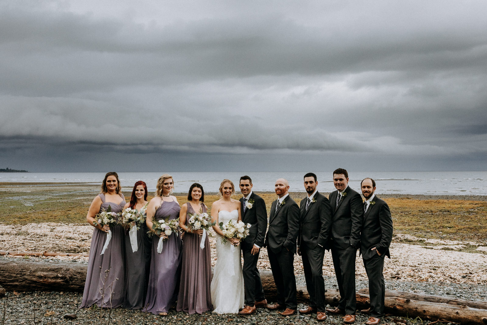 bridal party Miracle Beach Comox Wedding Photographer