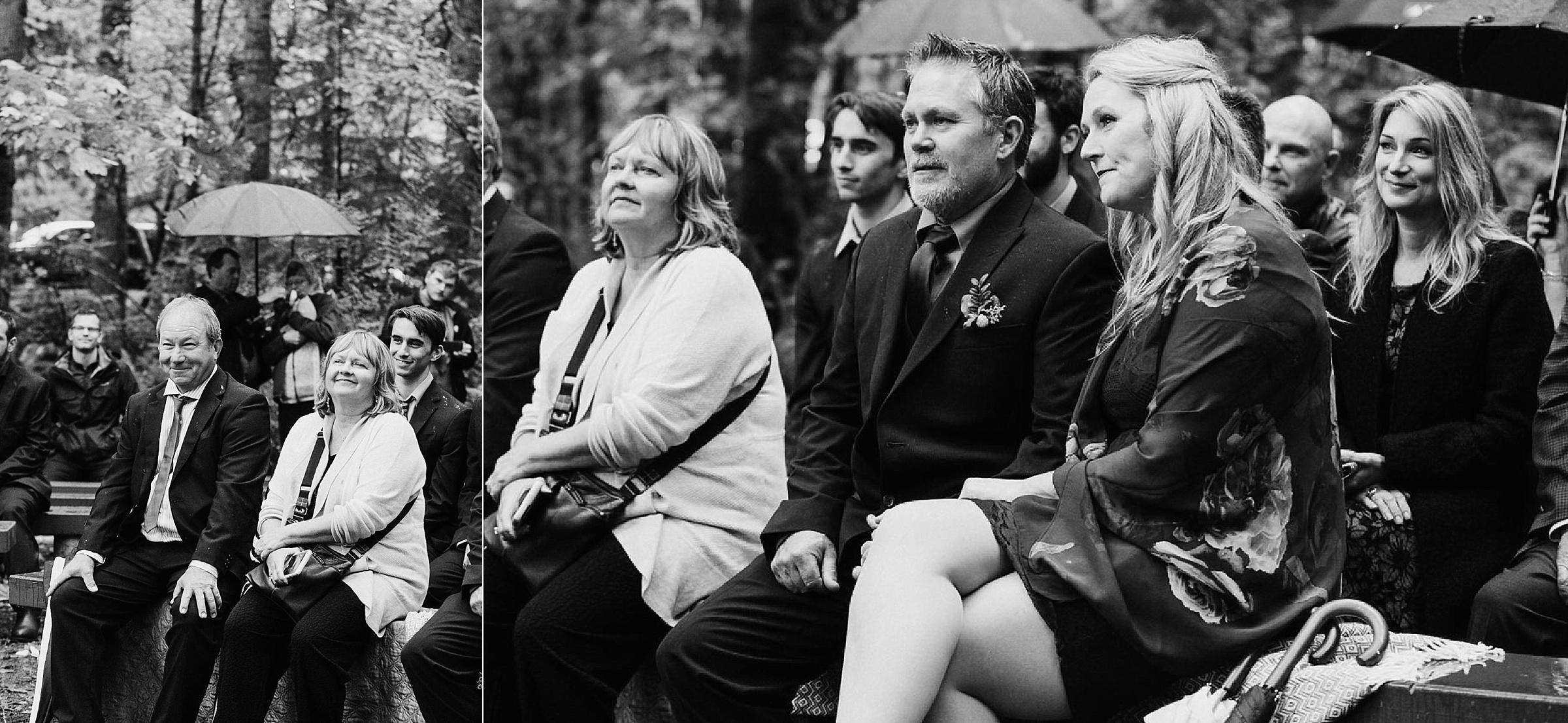 parents watch children Miracle Beach ceremony Courtenay Comox wedding photographer