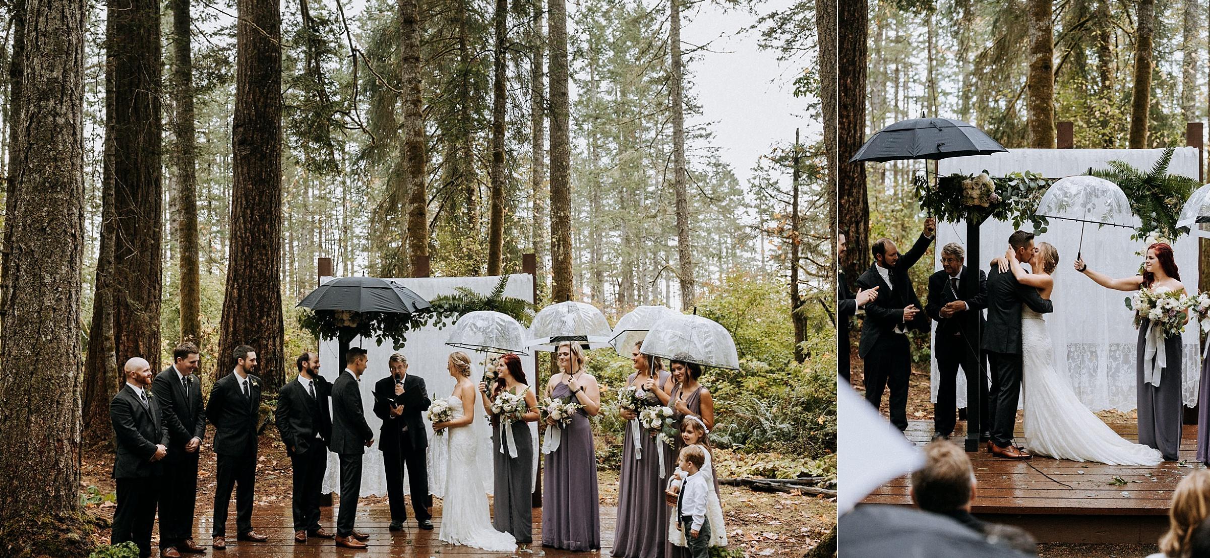first kiss ceremony Miracle Beach Comox Wedding Photographer