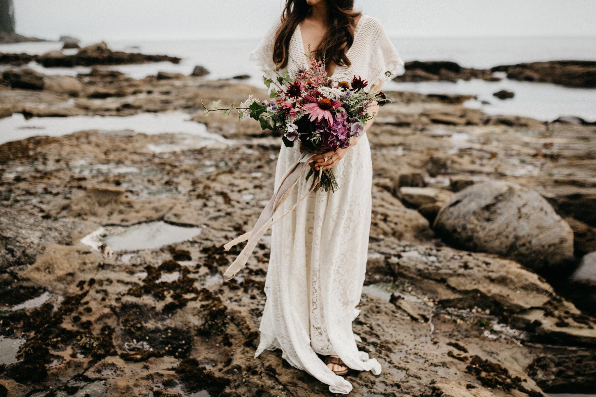 Sombrio camping elopement vancouver island