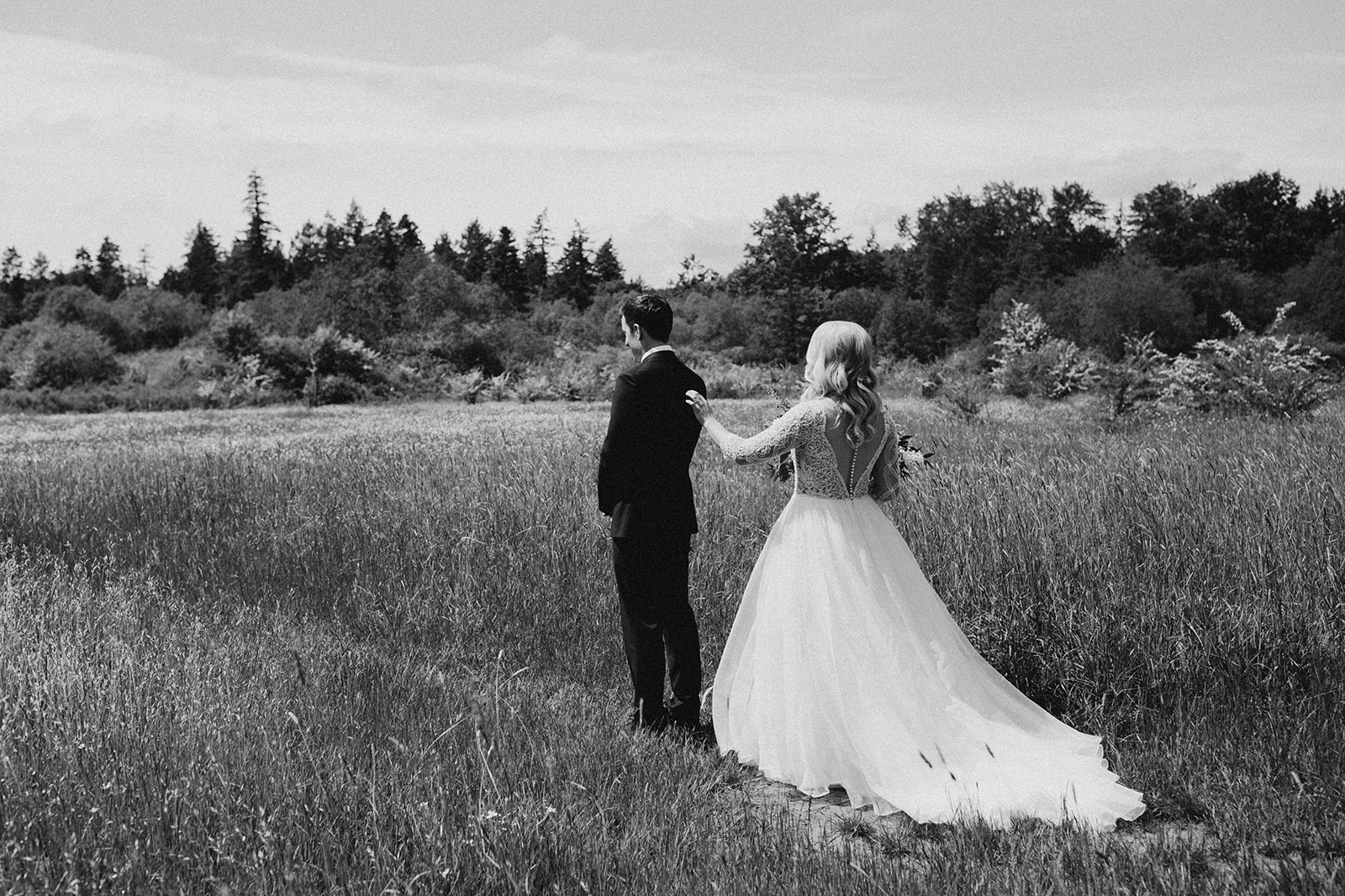 Couples first look, Victoria intimate wedding photographer