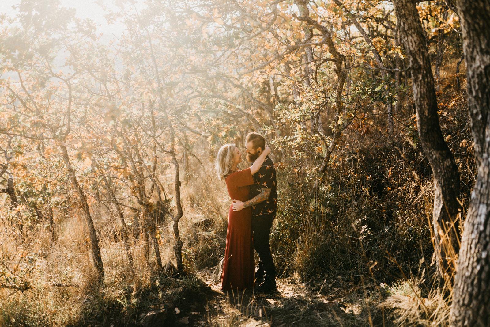 fall mountain top elopement Victoria BC wedding photographer