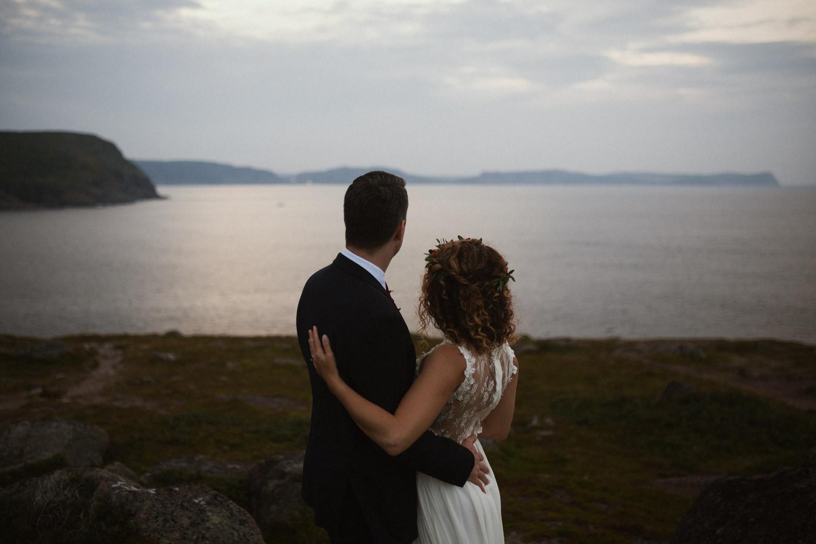 cliffside elopement, cape spear newfoundland elopement photographer