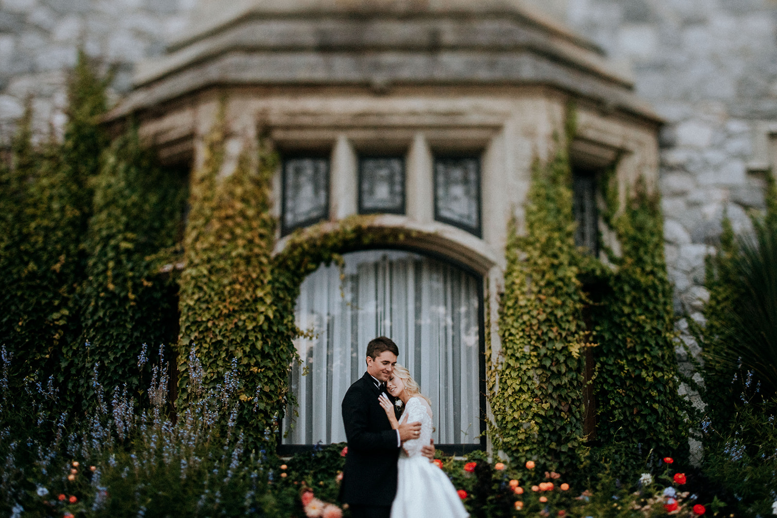 Hatley Castle Wedding photographer portraits of couple