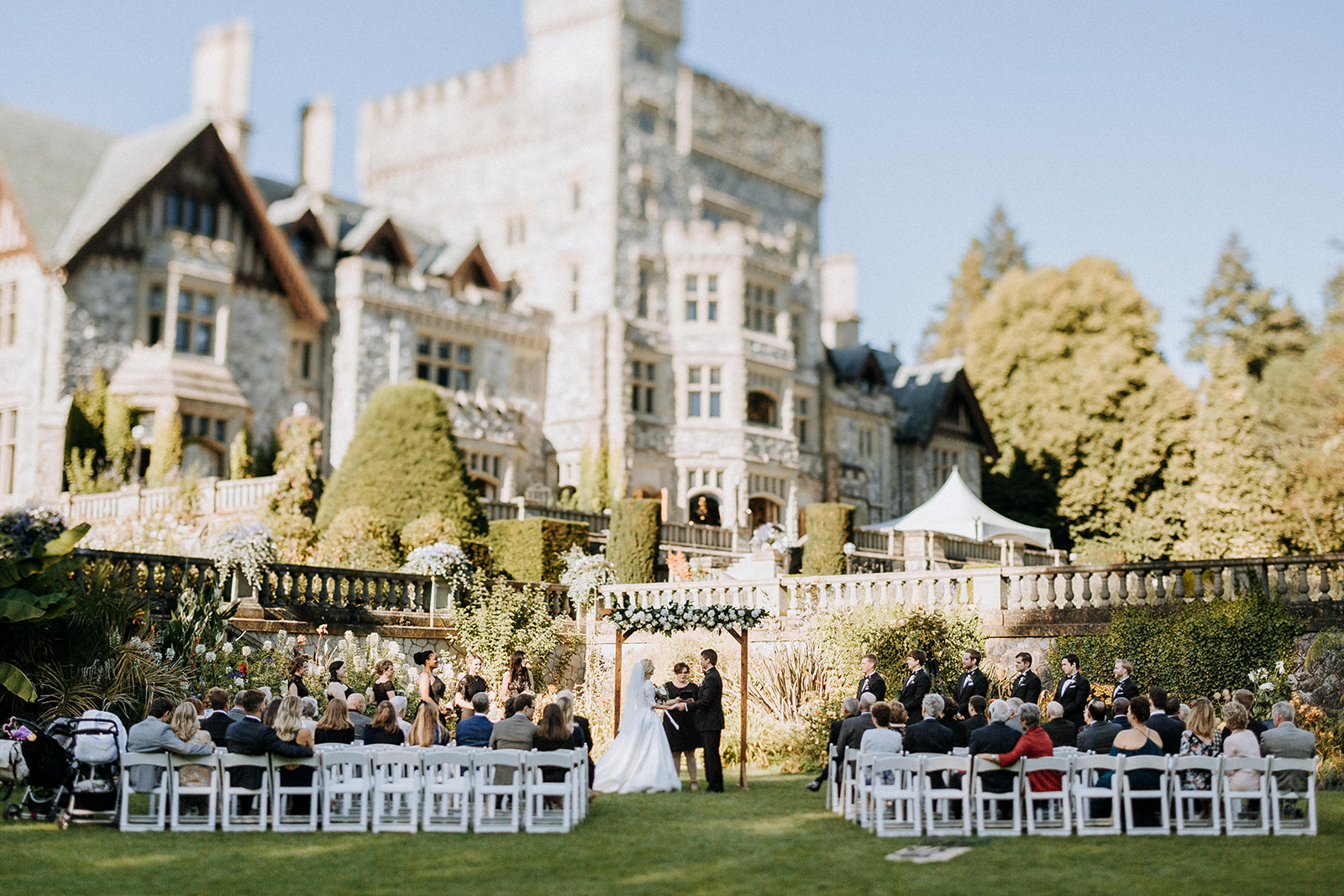 Hatley Castle Wedding photographer ceremony