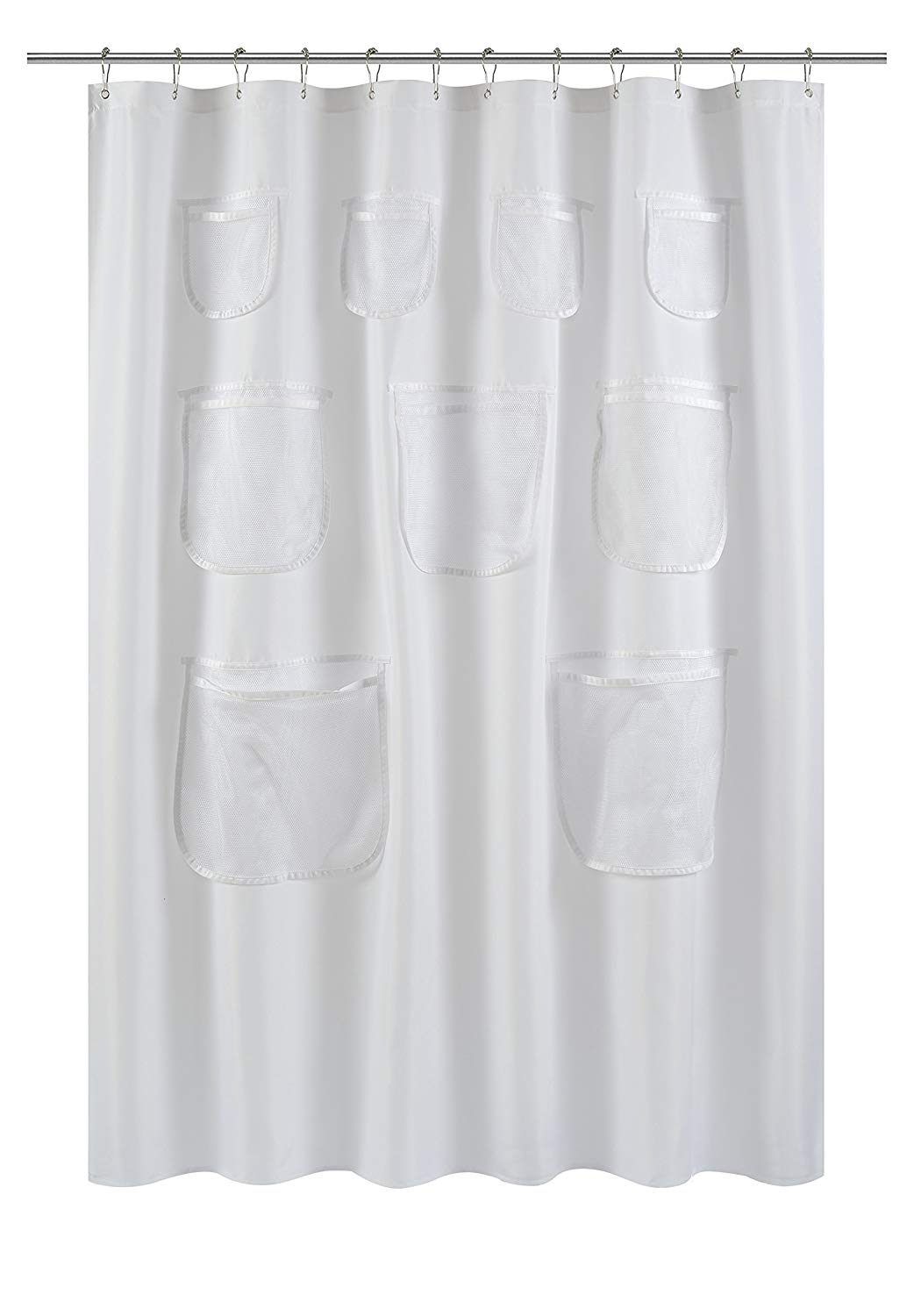 Shower Curtain Liner.   Shop  Fabric liner that is mildew-resistant and washable.