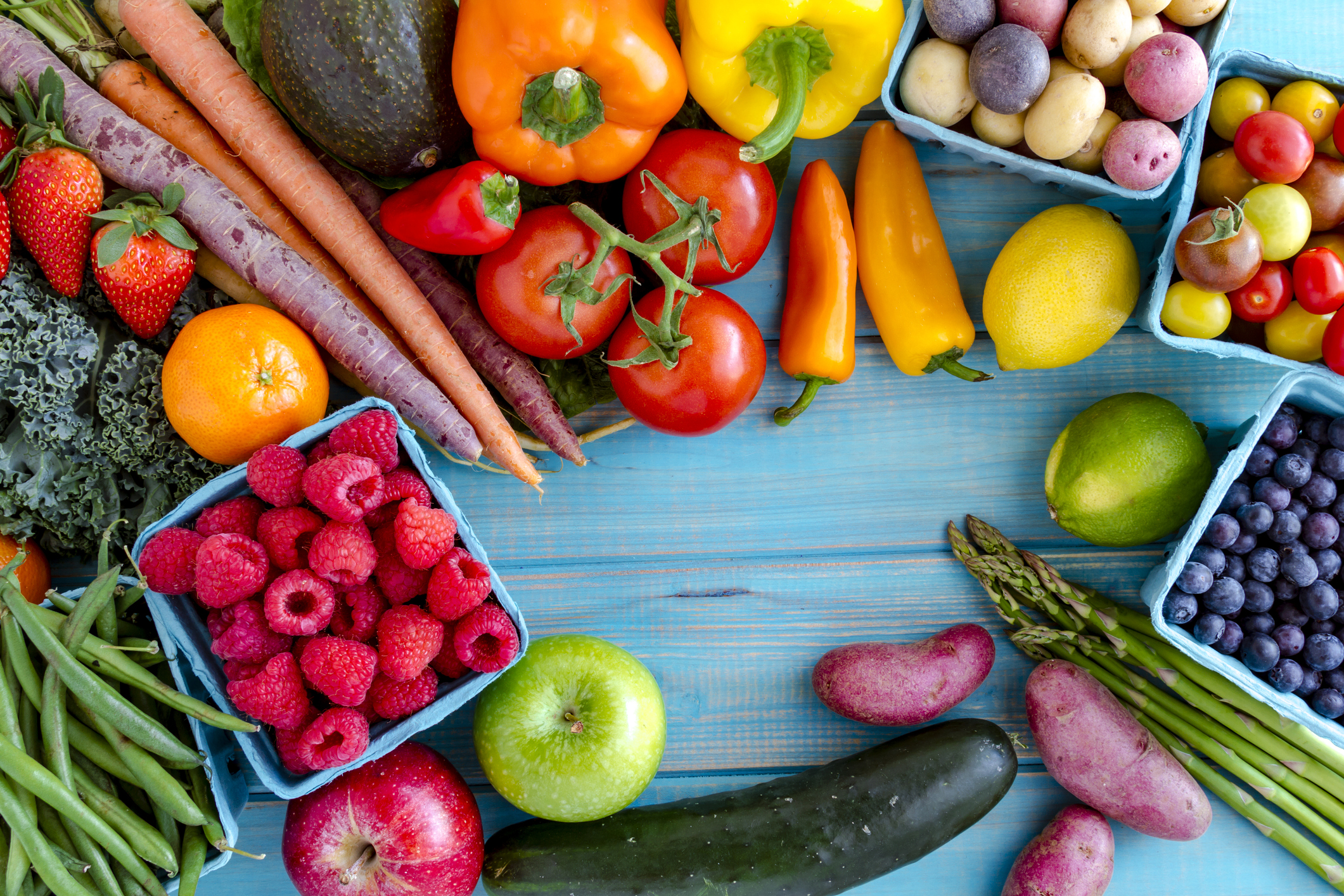 """""""Assorted Fruits and Vegetables""""  by  tvirbickis  under iStock's Standard License"""