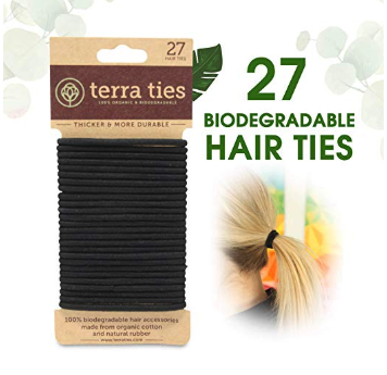 Hair Ties.   Shop  100% Biodegradable made from organic cotton and natural rubber. Compostable.