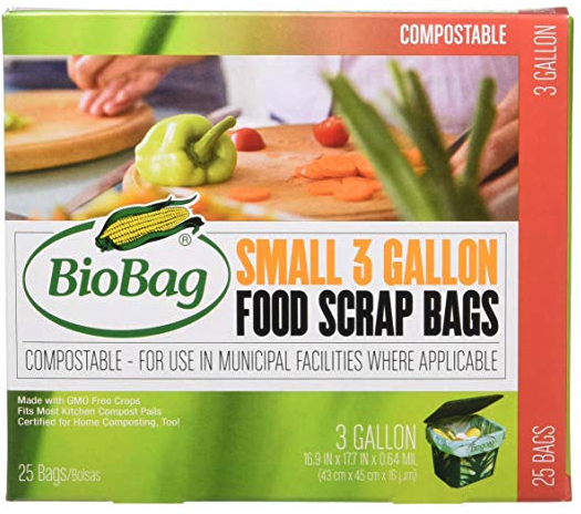 Trash Bags / Compost Bags.  Shop. Compostable at municipal facilities. Great for keeping compost bins clean or substituting plastic liners out for trash bins. This product is available in 3 gallon and 13 gallon sizes.