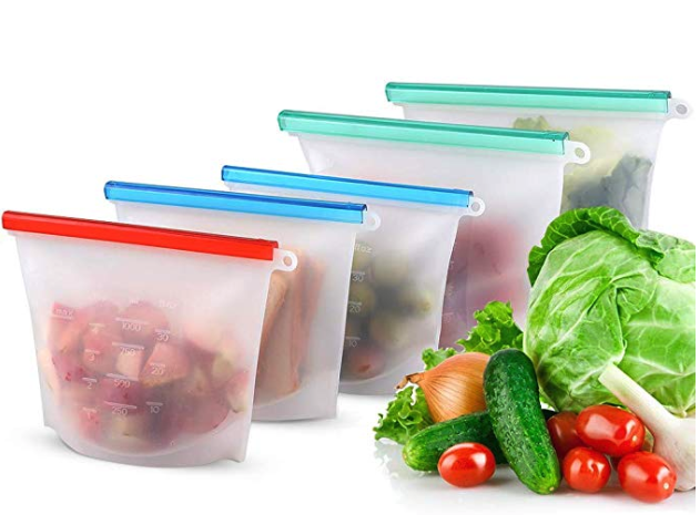Reusable Food Storage Bags.   Shop.  Silicone made. Leak-proof and dishwasher safe. Great alternative to zip lock bags.