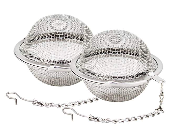 Tea Strainer.   Shop  Most individually wrapped tea bags come with plastic packaging. These stainless steel tea strainers work great for loose-leaf teas. You can order organic loose-leaf tea in bulk at  Mountain Rose Herbs , as well as other tea accessories.
