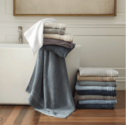 Bath Towels.   Shop  These 100% GOTS certified organic cotton towels are high quality and sustainably made via Under the Canopy. They also sell bed sheets and other linens.