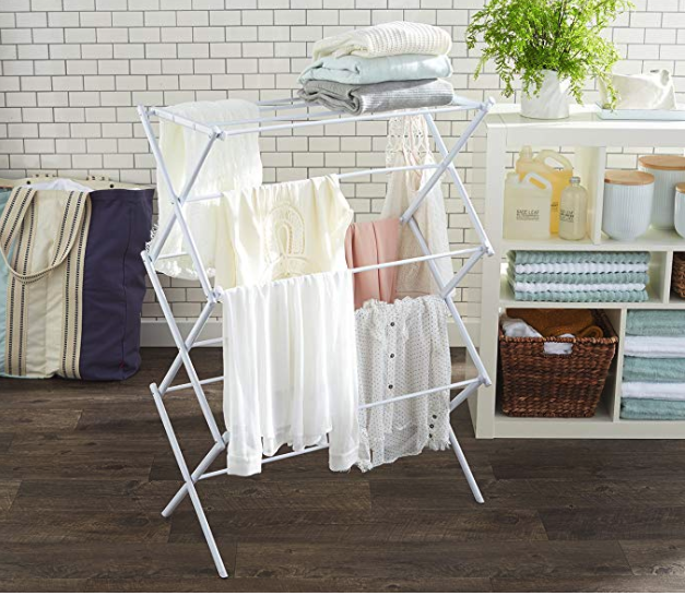 Foldable Drying Rack.   Shop  Save money and carbon emissions by drying your laundry inside. Great for rainy days or if you lack the space outdoors for a clothing line.