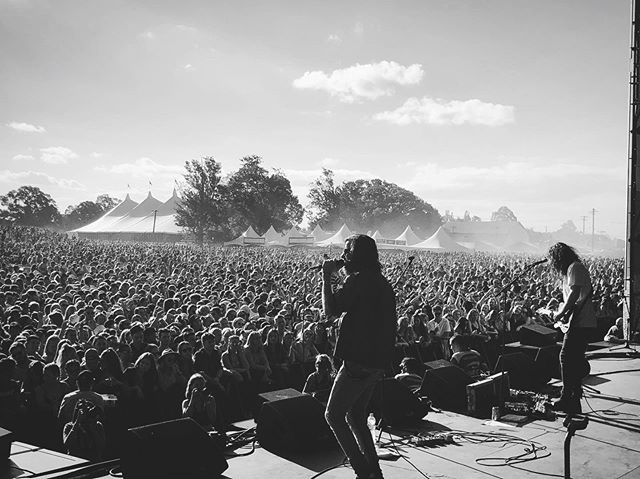 @groovinthemoo earlier this year . our tour starts in under a month ! looking forward to playing some of these new tunes for you . link in bio . Who's coming? 📸 = @jessbestweston
