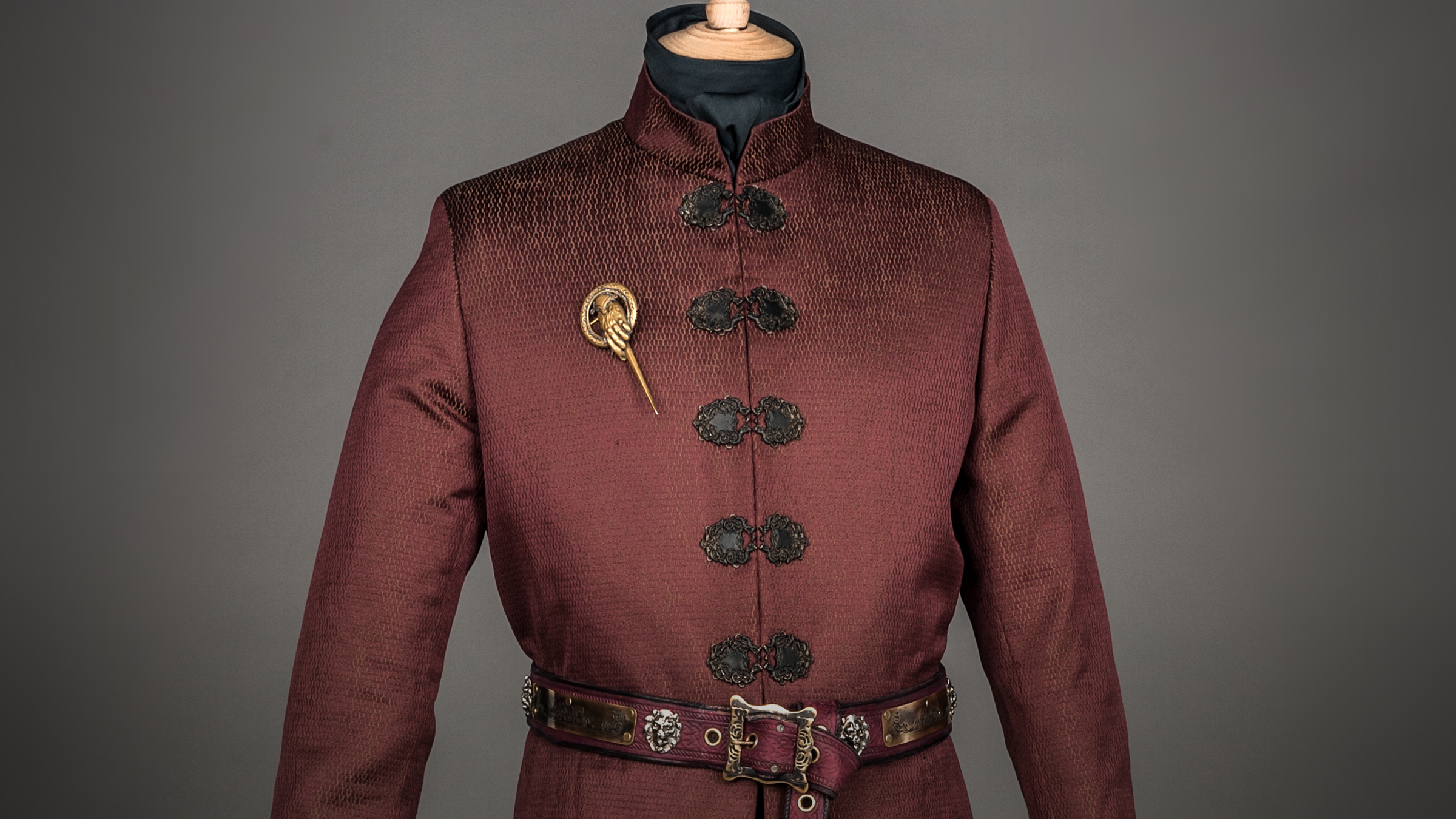 """""""Tywin does wear red, which is rare for him. He's very proud to be a Lannister, and he wants to be seen to be proud to be a Lannister, so he's brought out the red. He's come to the fore a little bit -- I play with colors, and try and push people forward and back."""""""