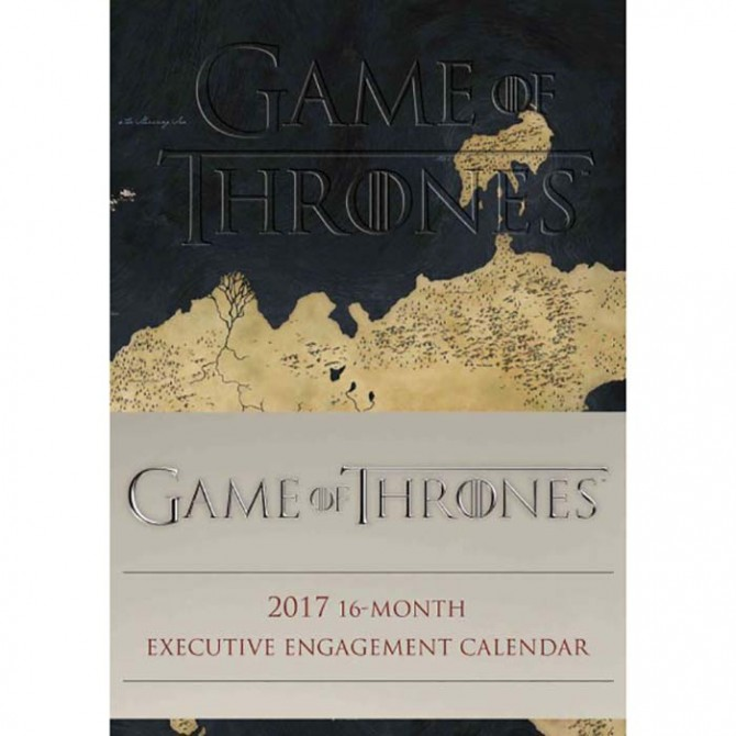 Game of Thrones Softcover Weekly 2017 Planner