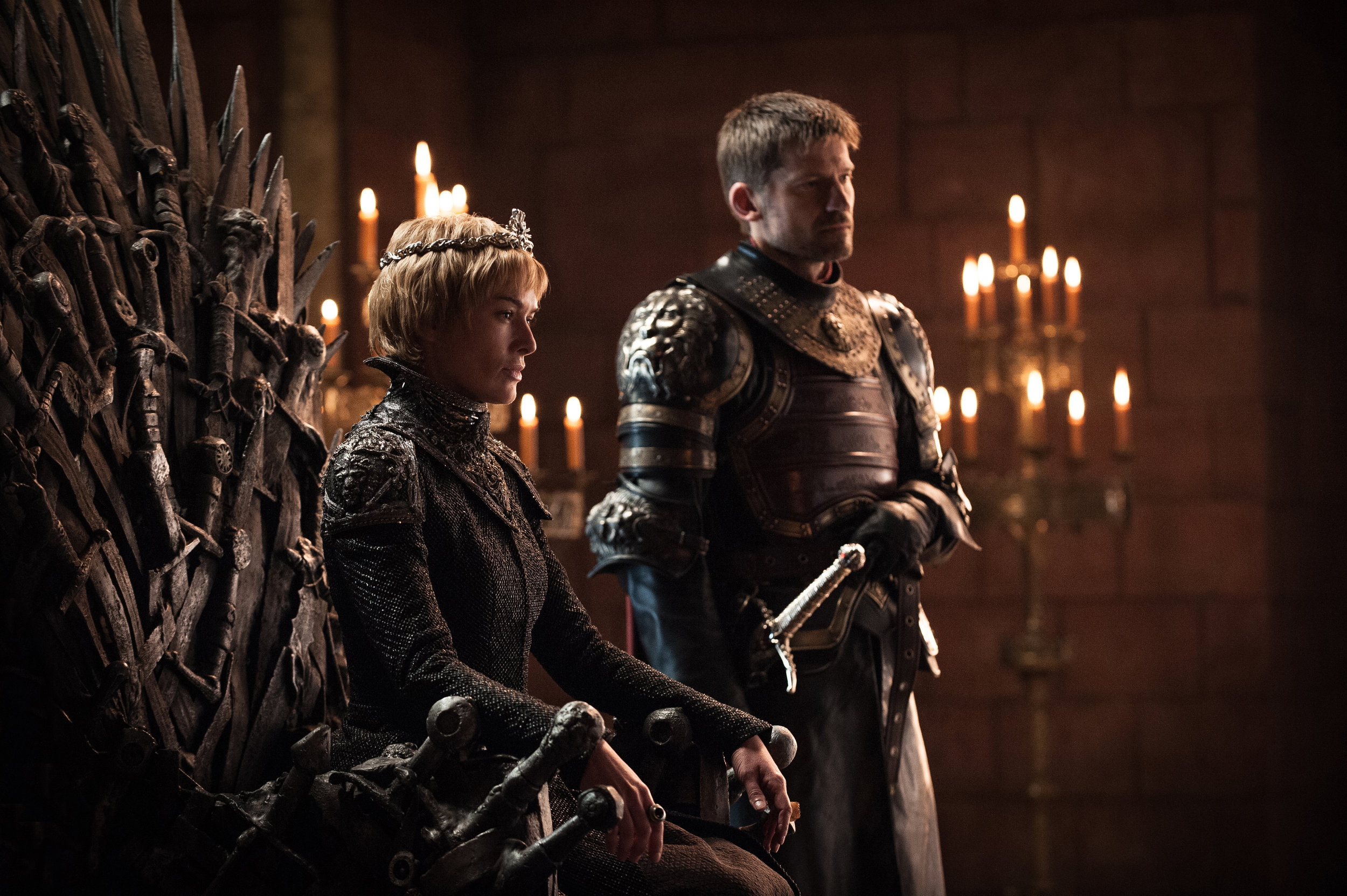 Lena Headey  as Cersei Lannister and  Nikolaj Coster-Waldau  as Jaime Lannister -  Photo: Helen Sloan/HBO