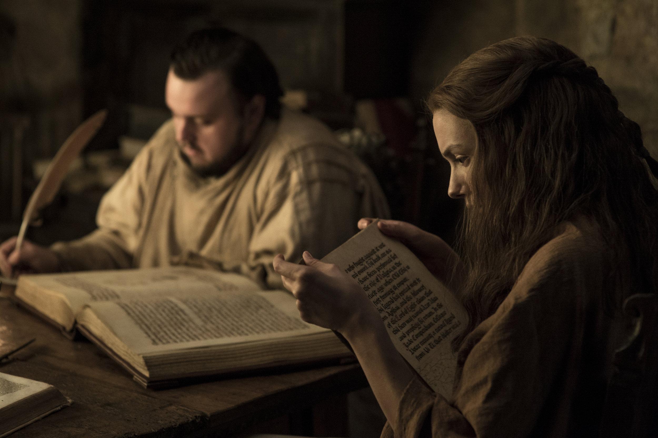 John Bradley  as Samwell Tarly and  Hannah Murray  as Gilly -  Photo: Helen Sloan/HBO