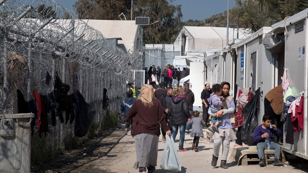 More than 7,000 asylum seekers are in Moria, a camp built for fewer than half that number. (Jodi Hilton/International Rescue Committee)