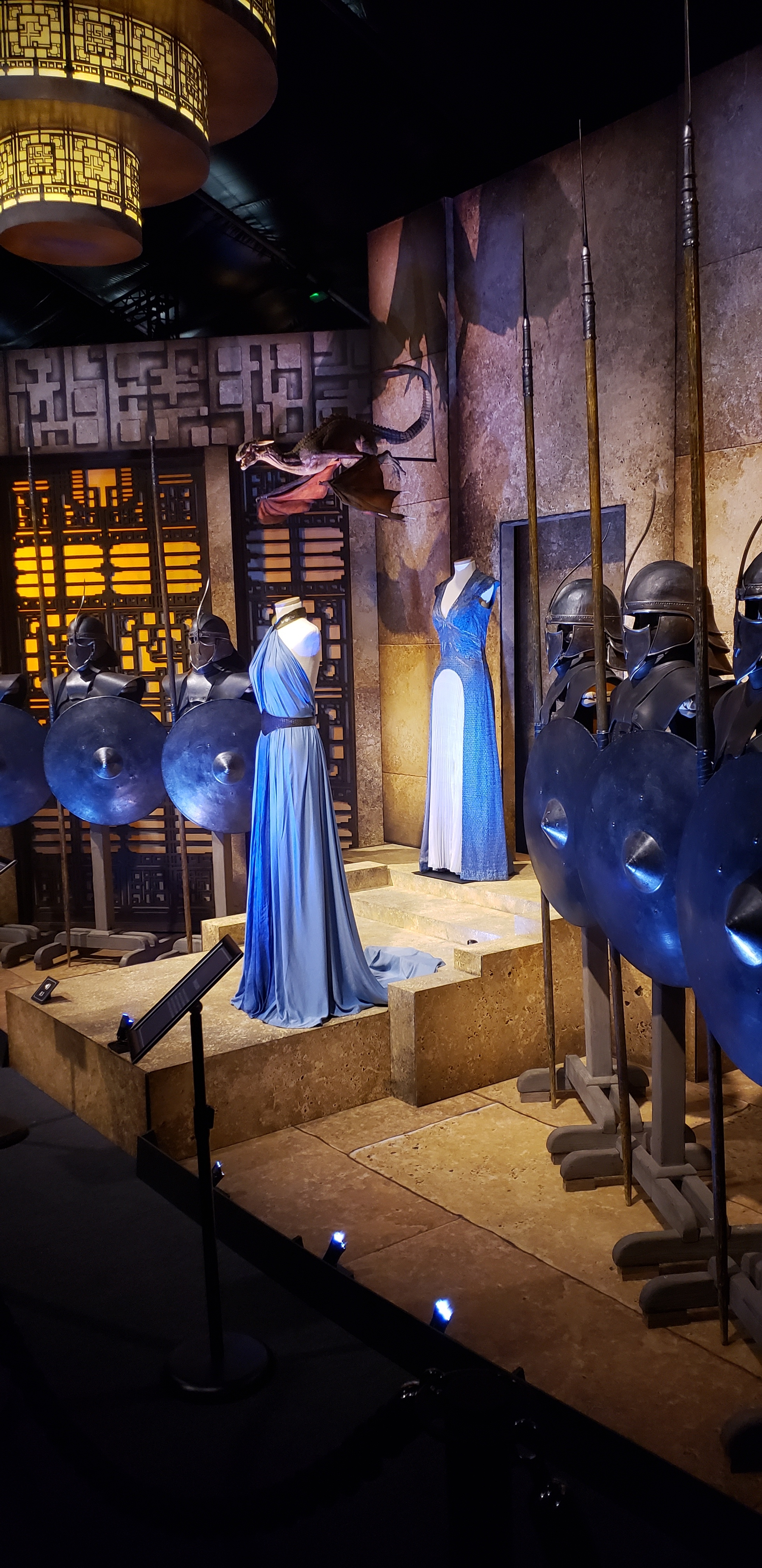 Daenerys and Missandei costumes amongst the Unsullied armor