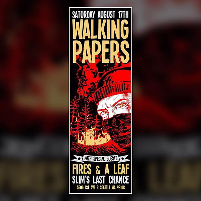📲 SCROLL - Next weekend I get to open for one of my favorite rock bands @walkingpapers 🤘 w/ @aleafband. Gonna do my best to stay faithful to my bois @natedaley and @andy_wambem🤞🤞🤞