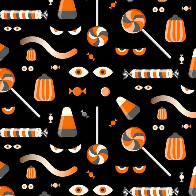 It's BOO time. Some custom seamless pattern illustrations for a corporation in Redmond. Which do like better - pattern 1 or 2?  #design #patterndesign #illustration #halloween #seamlesspattern