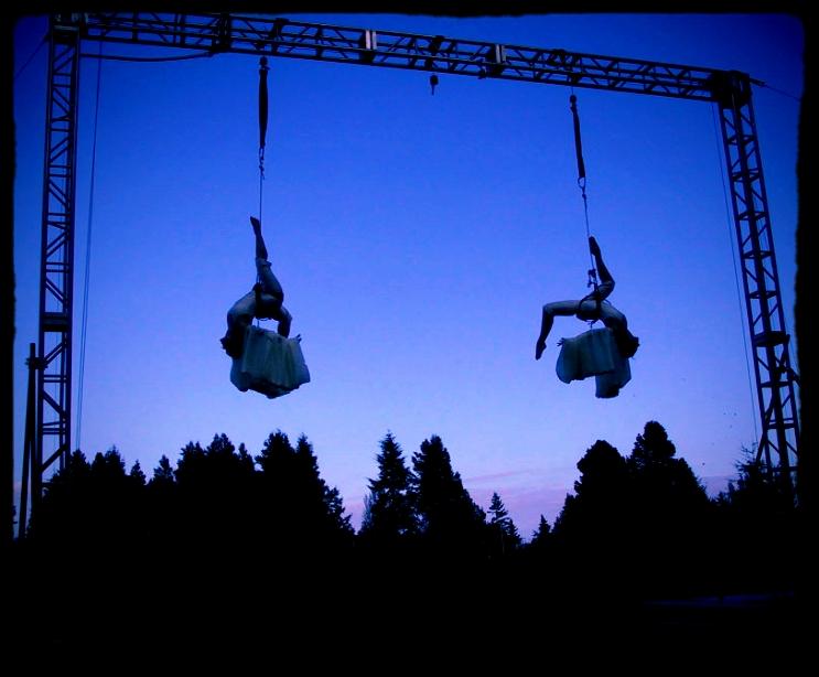 """Elizabeth and Cara performing """"Snowbirds"""""""