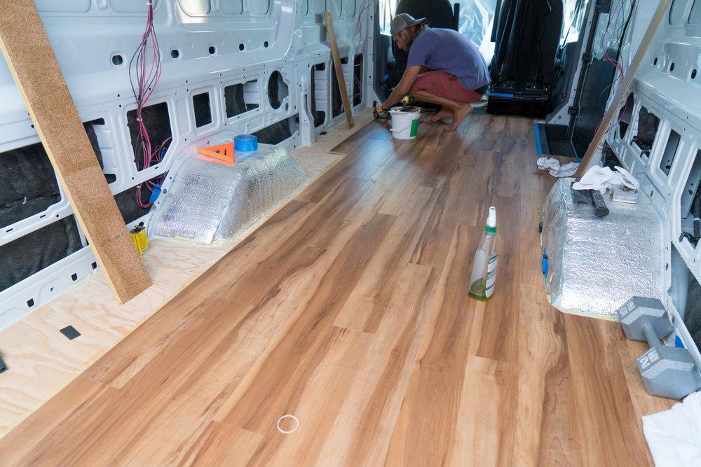 Installing Flooring In A Ford Transit, Econoline Laminate Flooring