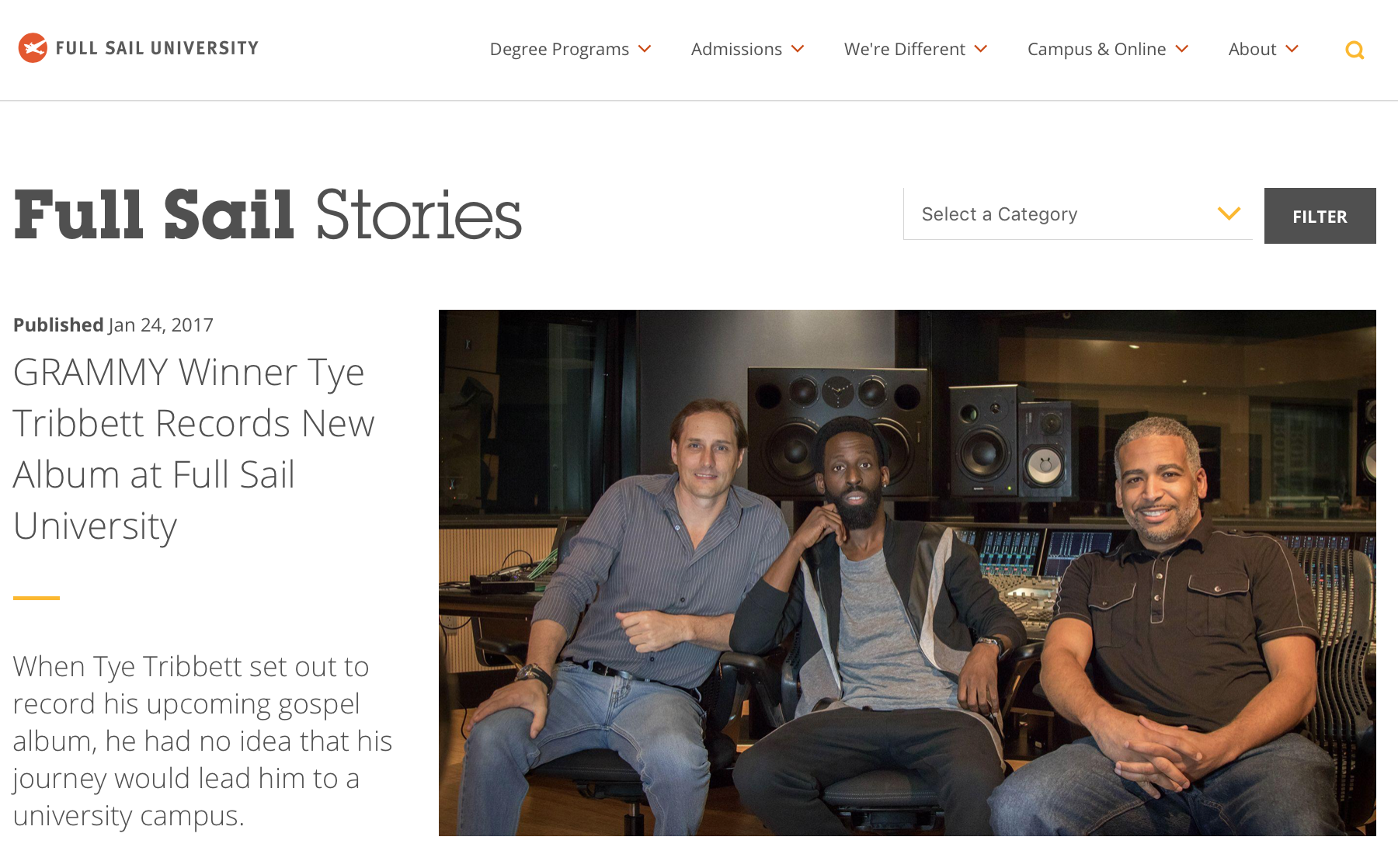 Industry collaborations: tye Tribbett