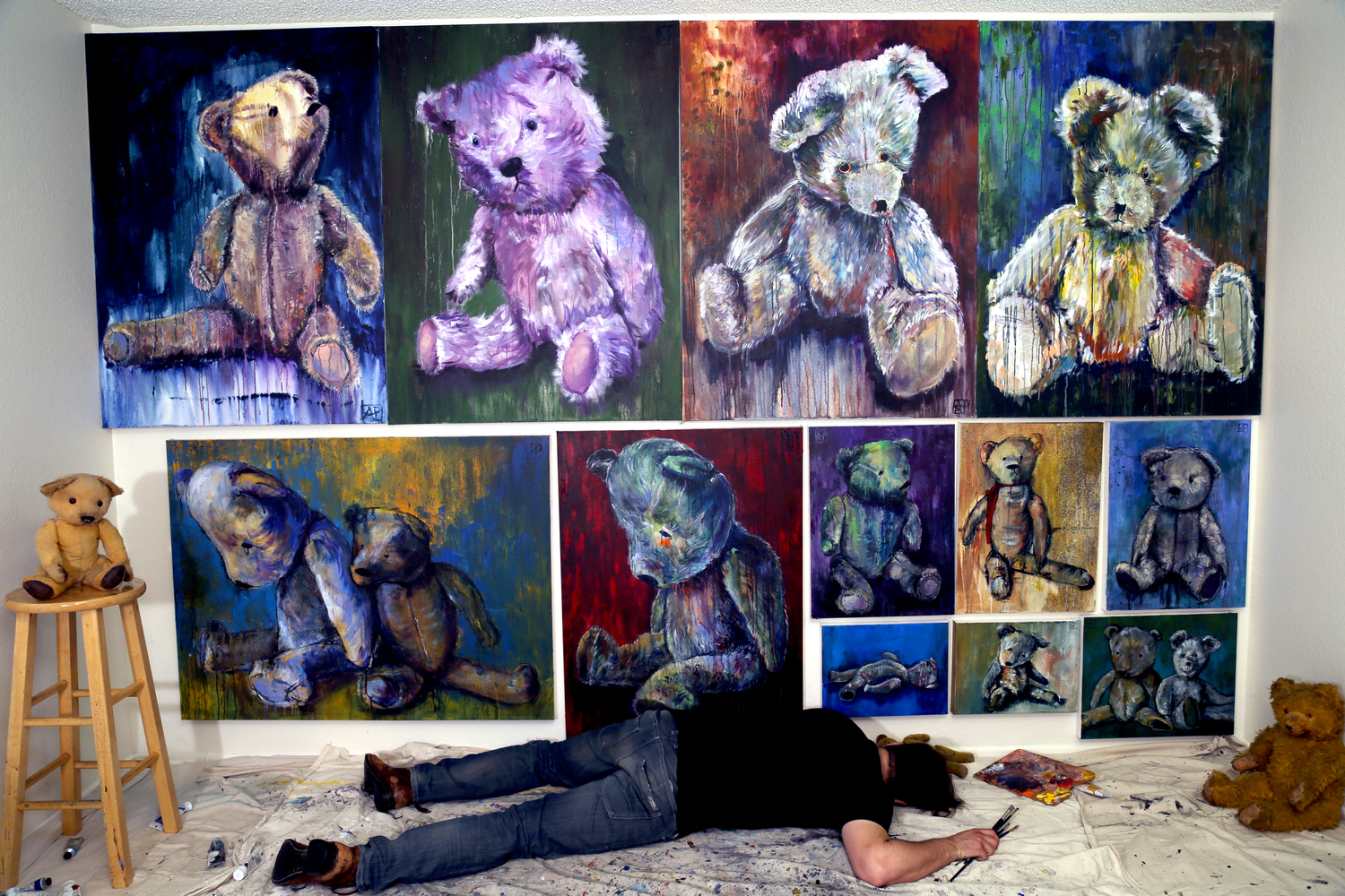 THE BEARS (SOLD) /  click for full image...