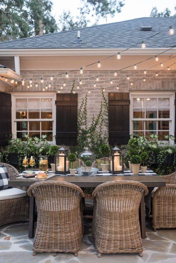 Cozy dinner setting
