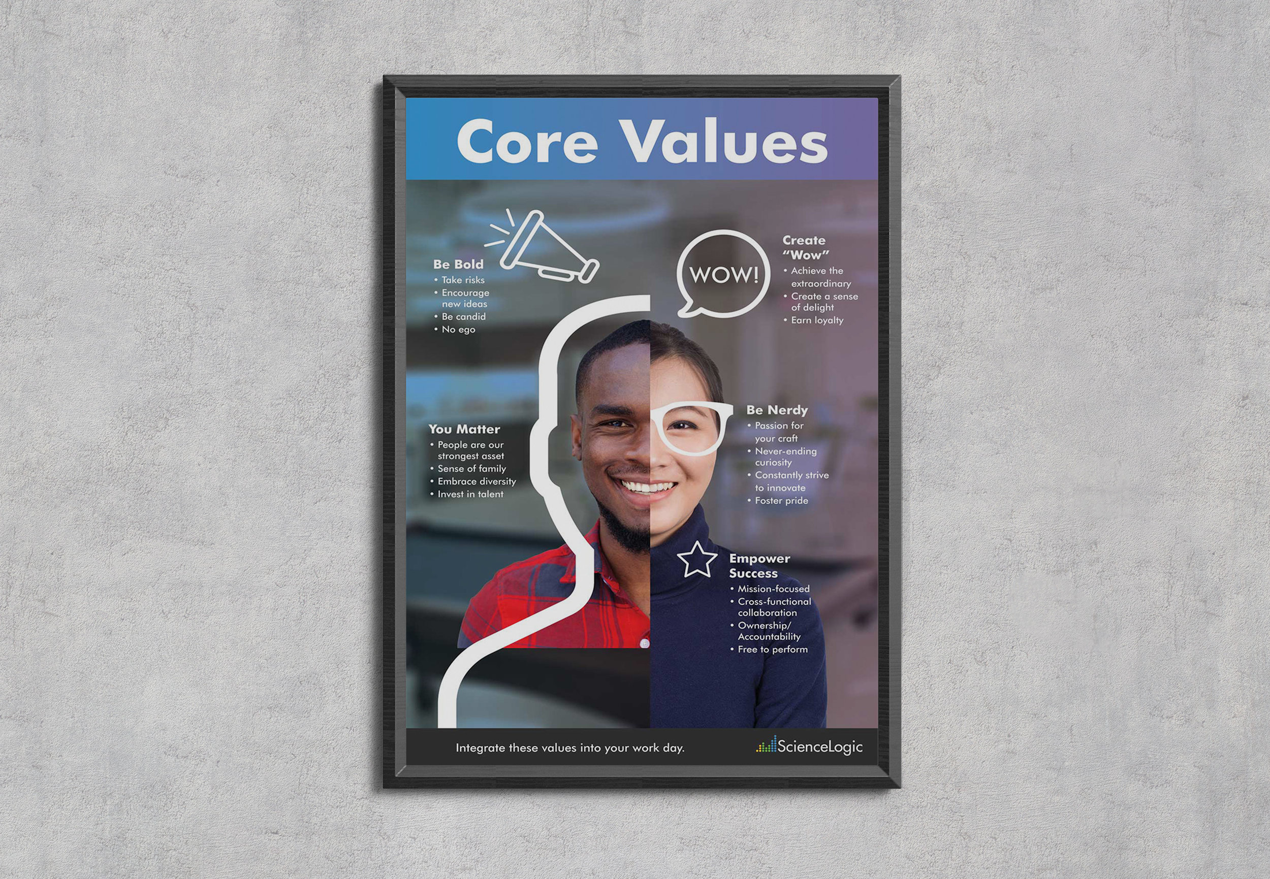 ScienceLogic Corporate Core Values Poster