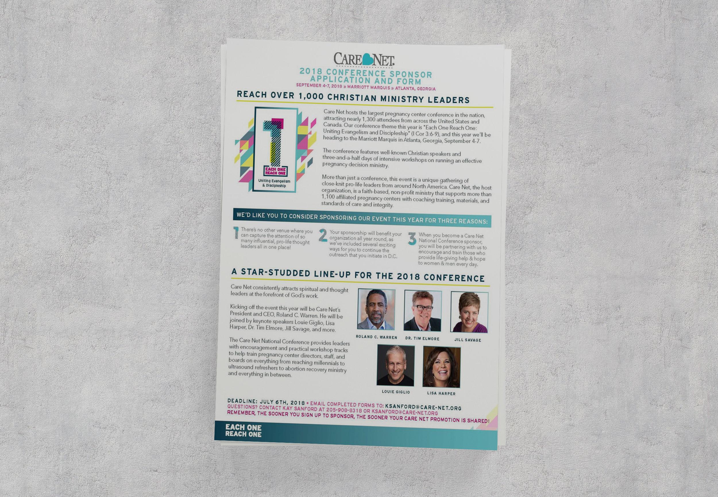 Care Net Conference Sponsor Information
