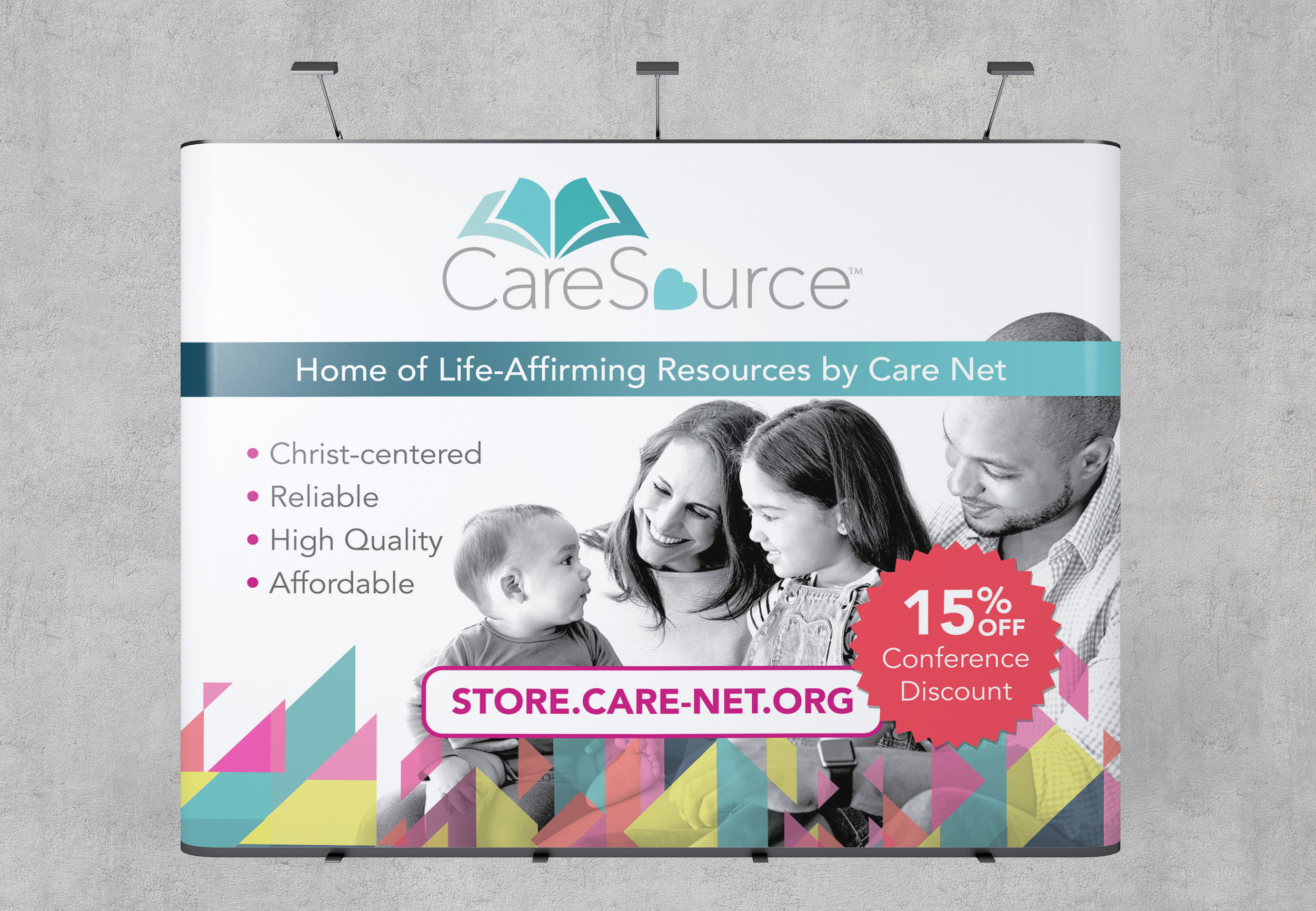 Care Net CareSource Conference Booth Wall