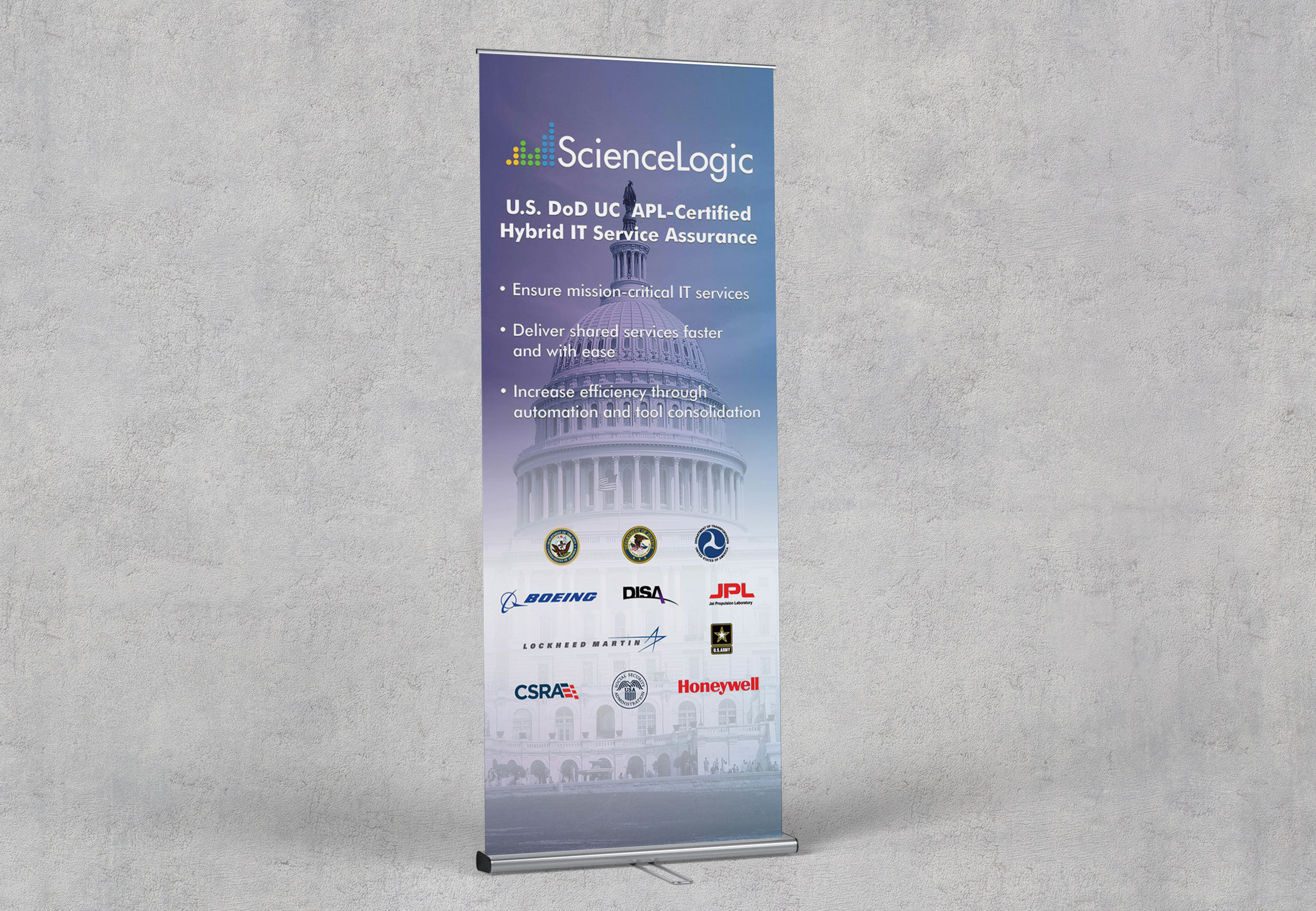 ScienceLogic Federal Display Banner