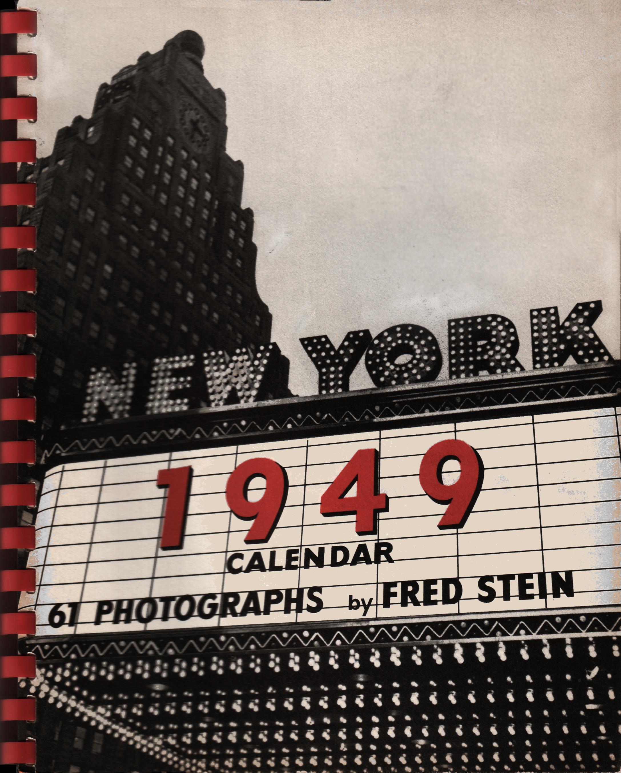 New York 1949 Calendar
