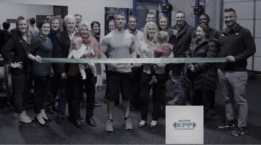 Knutson Physical Preparation Ribbon Cutting.JPG