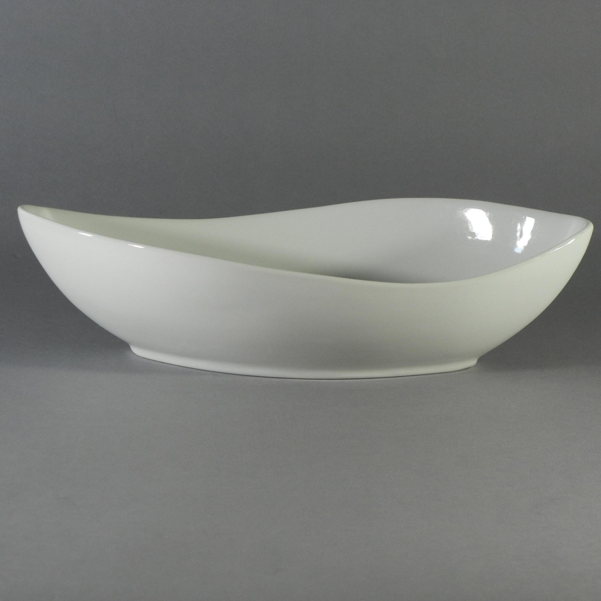 """Porcelain Canoe Bowl - V 24 oz. (12""""x5.75"""")"""