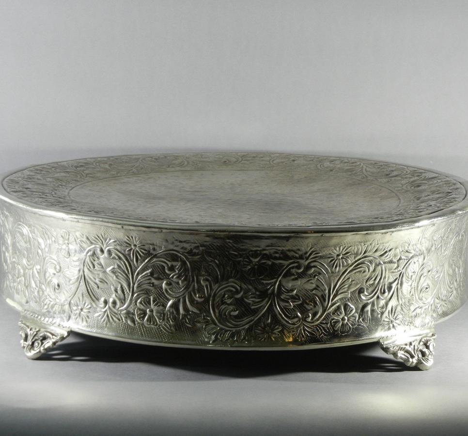 Ornate Round Cake Stand