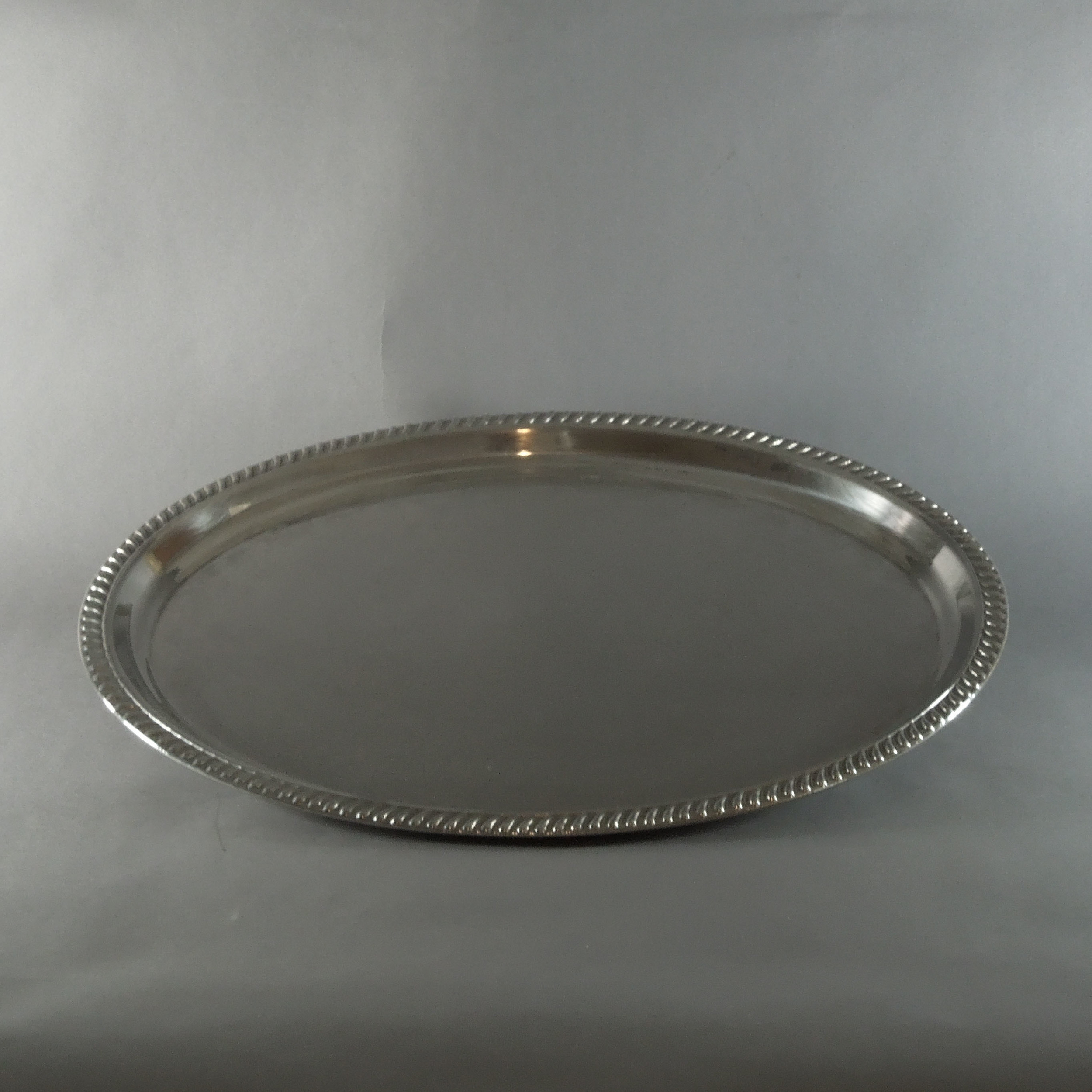 Silver Plated Oval Tray (22'')