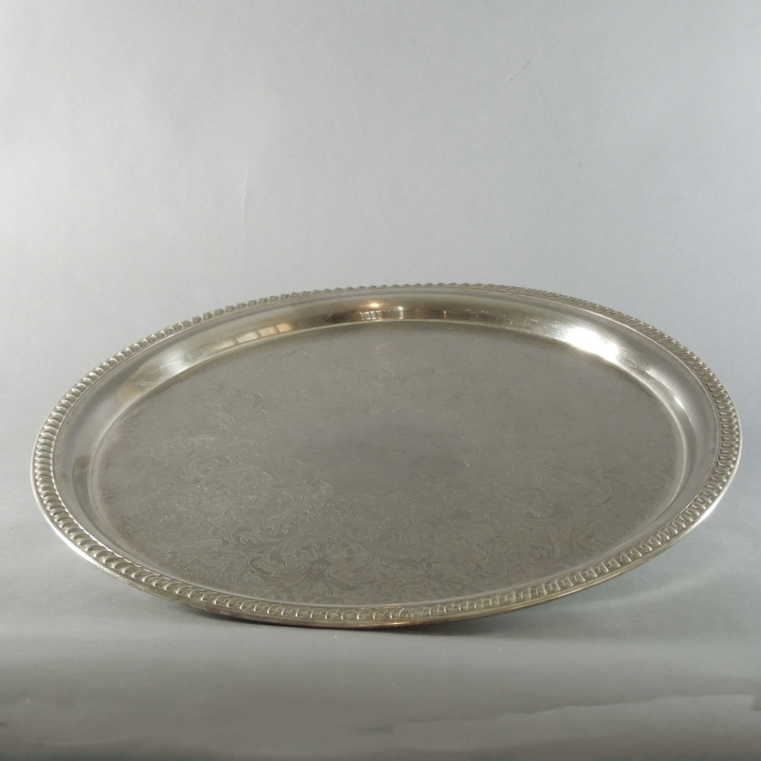 Silver Plated Round Tray (18'')