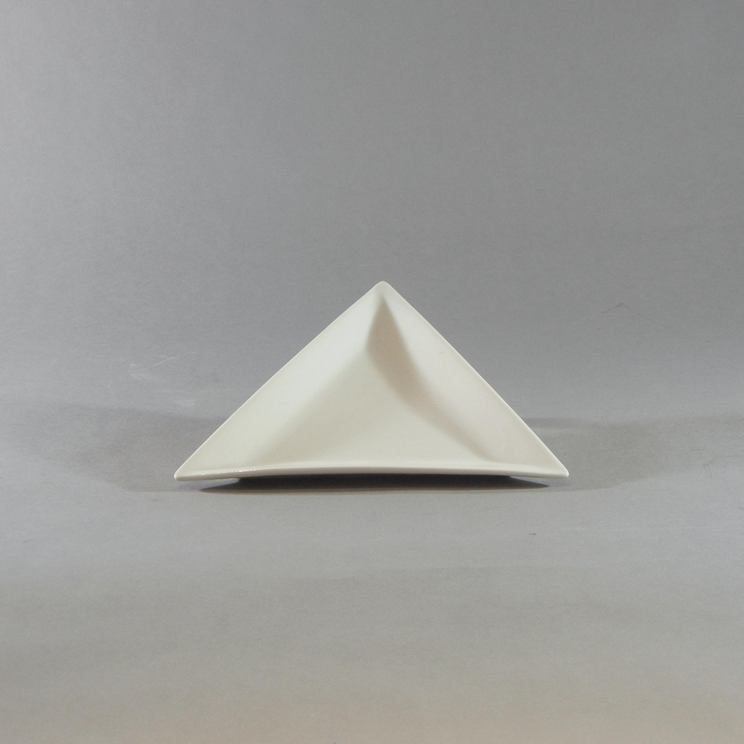 White Triangular Plate (8'')