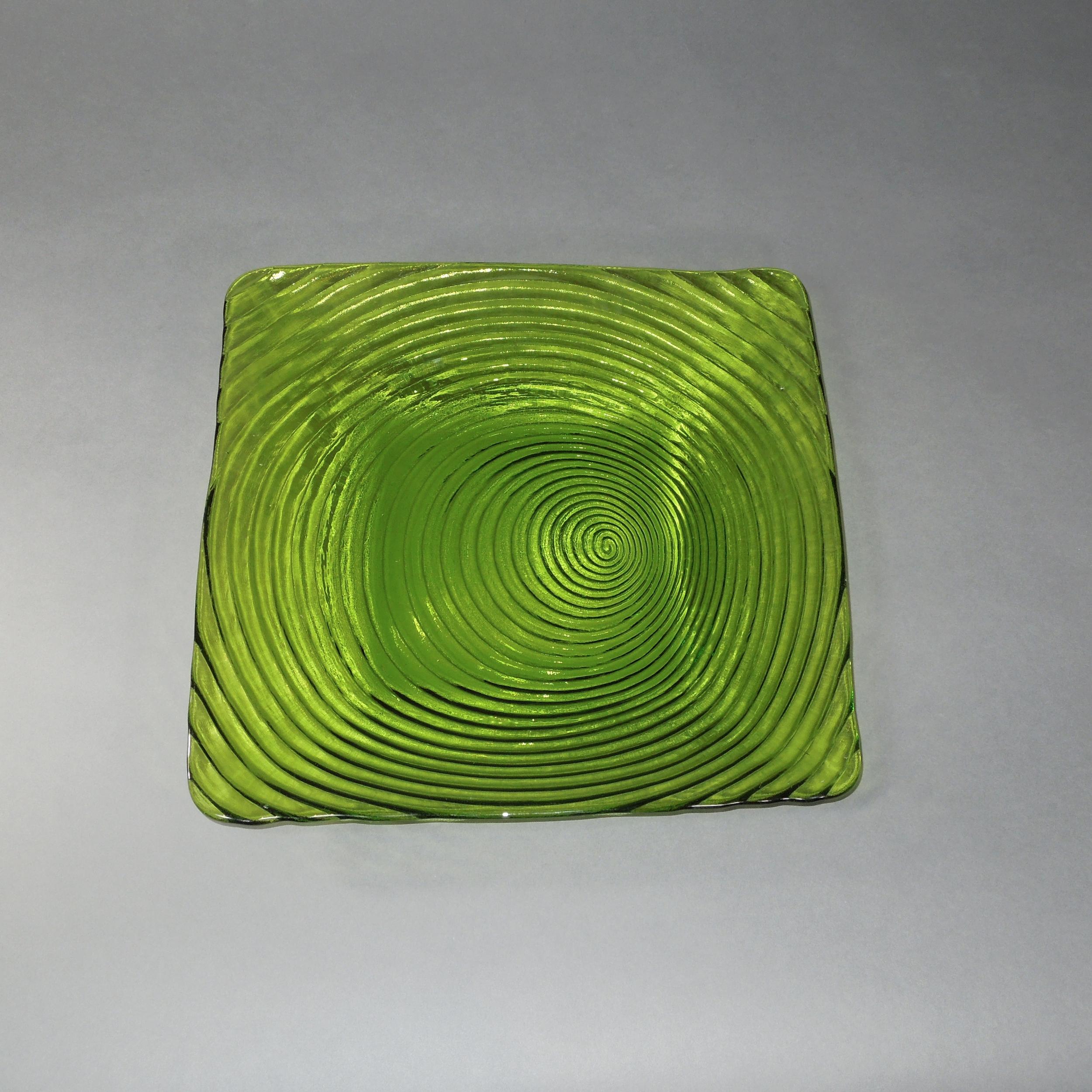 Square Plates - Green