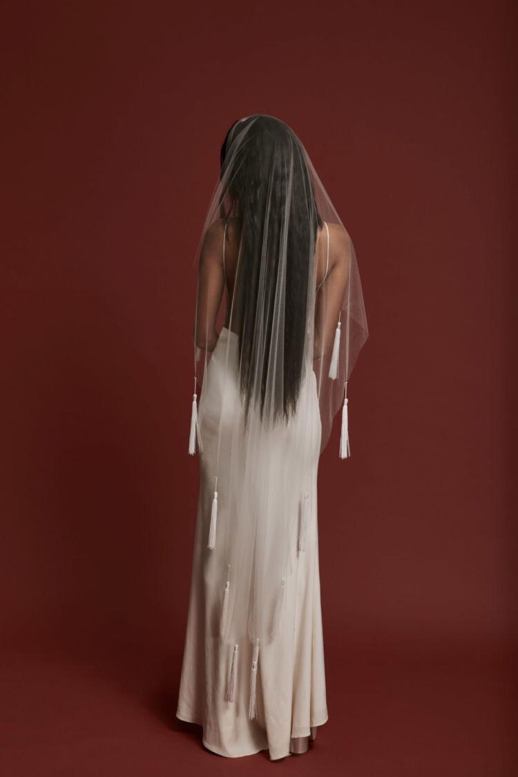 Nocturne Veil by Rue De Seine - Off White - Was $395.00