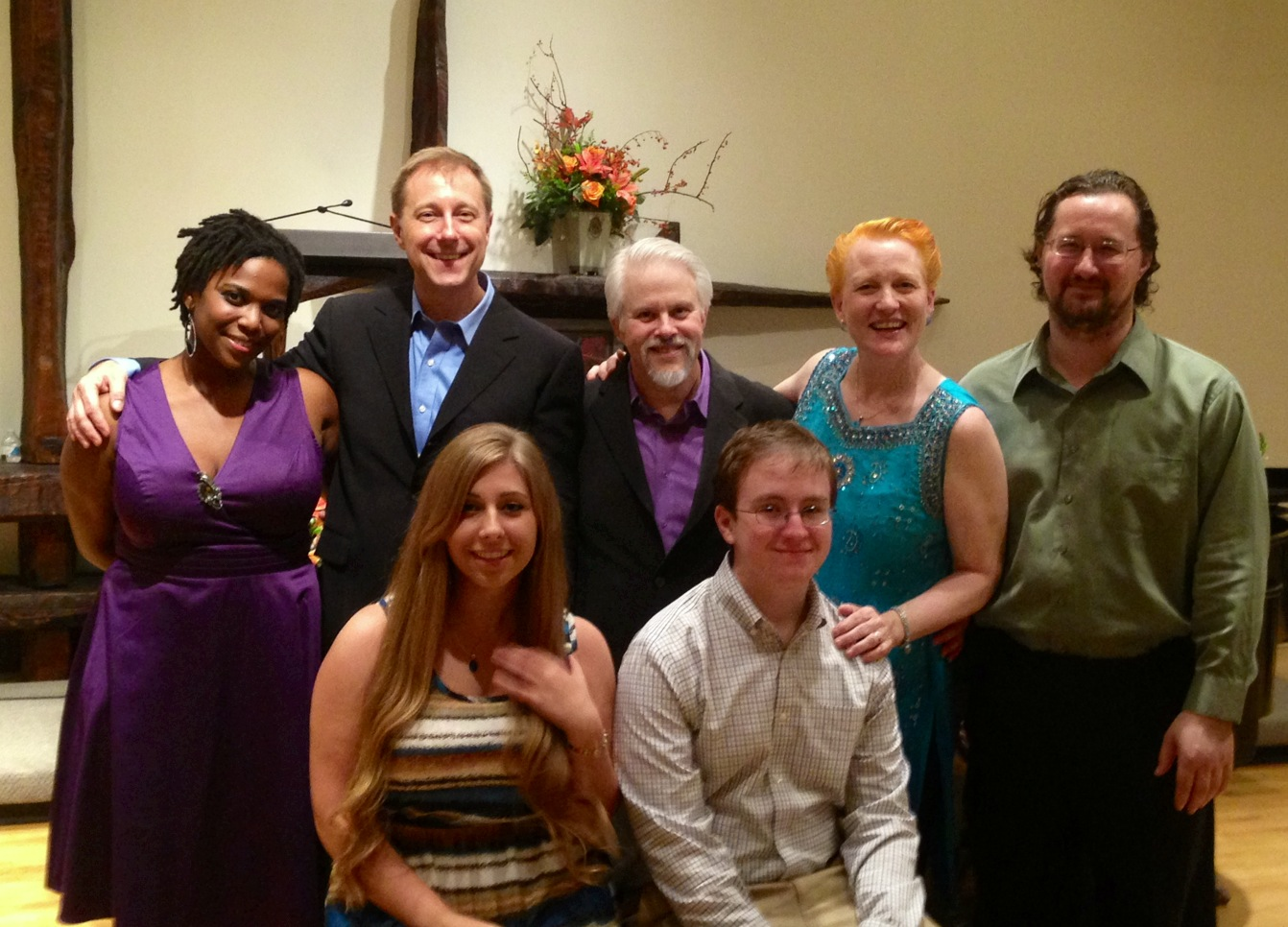 PV with guest artists Kyra Sims & Andrew Pecota. Seated are award winner Jacqueline Romeo and composer Michael Parsons