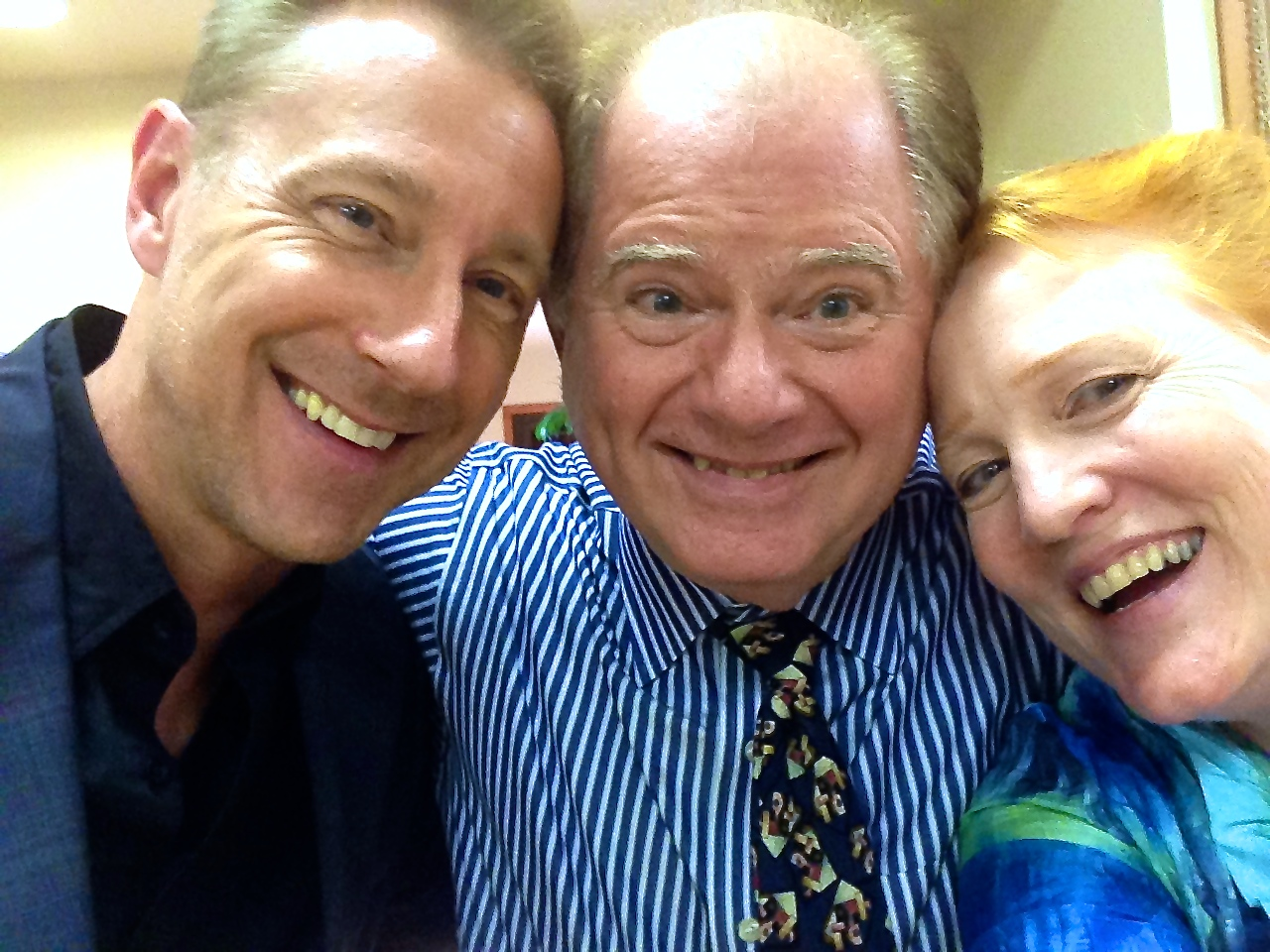 Fun with Selfies!!  Don & Margaret with David Messer!